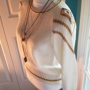 Adorable vintage sequin detailed sweater size M